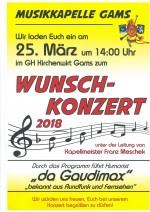 2018-03-25_Wunschkonzert Musikkapelle Gams